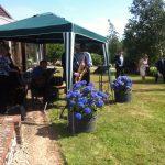 Quintet garden wedding reception