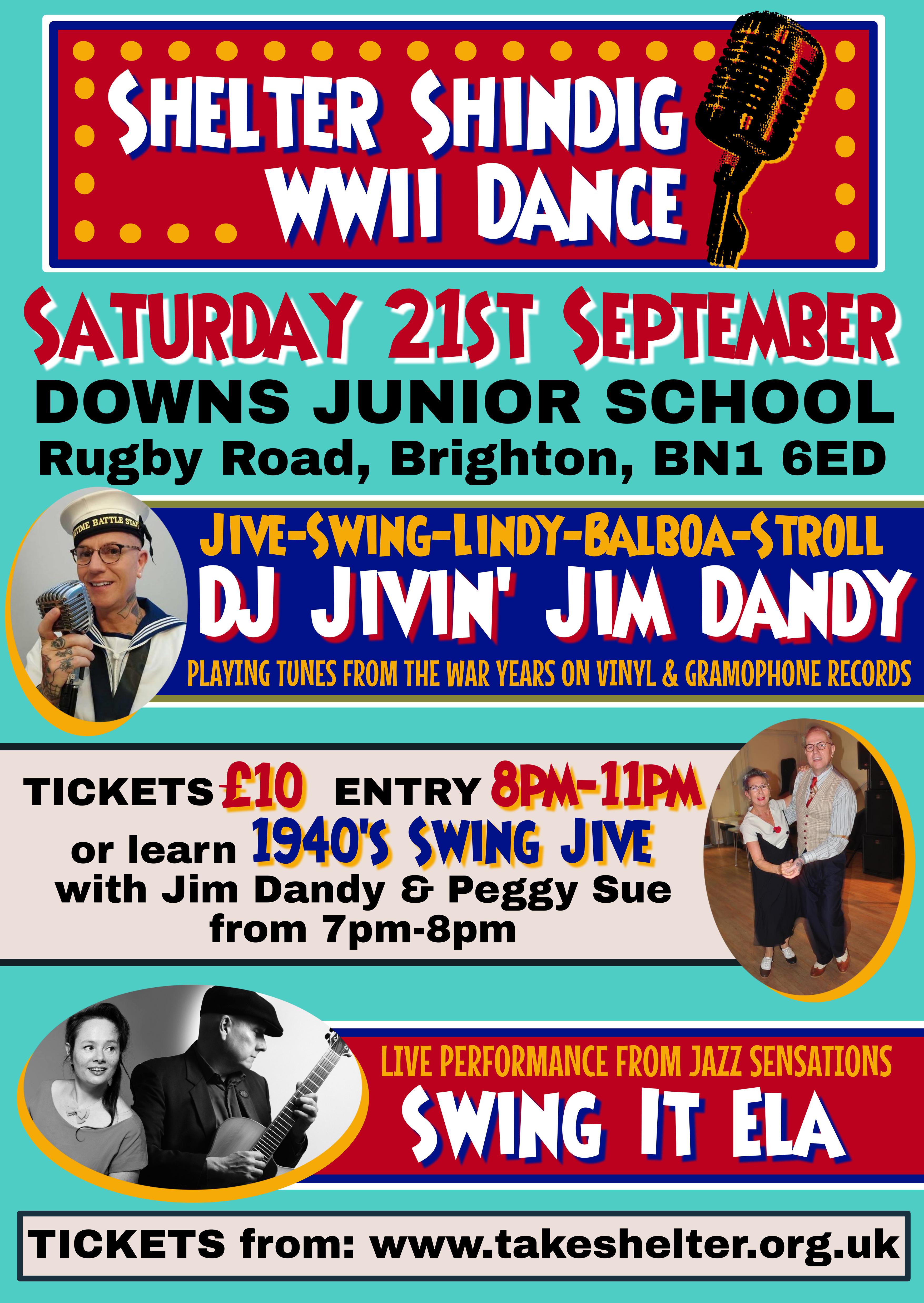 Shelter Shindig WW11 Dance Sept 2019