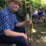 Tim at garden party gig